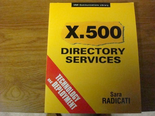 9780442018160: X.500 directory services: Technology and deployment (Computer Science)