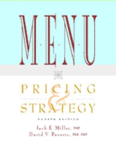9780442022099: Menu Pricing & Strategy
