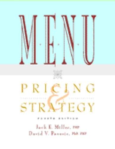 9780442022099: Menu Pricing & Strategy (Hospitality, Travel & Tourism)
