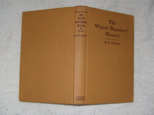 9780442024666: Watch Repairer's Manual
