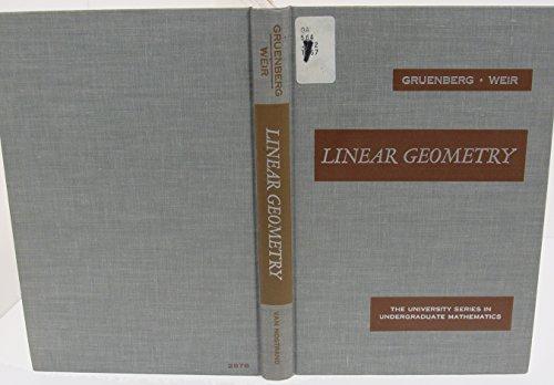 9780442028763: Linear Geometry