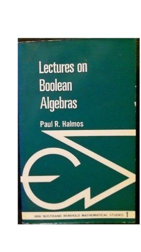 9780442030650: Lectures on Boolean Algebras (Mathematics Studies)