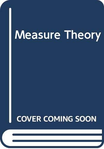 9780442030674: Measure Theory