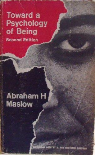9780442038052: Toward a Psychology of Being (An Insight Book)