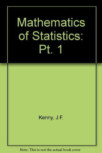 9780442043520: Mathematics of Statistics: Pt. 1