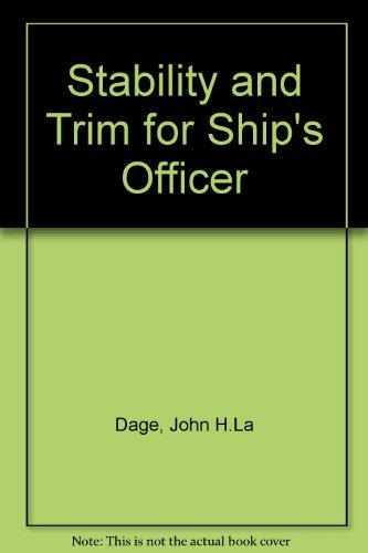 9780442046675: Stability and Trim for Ship's Officer