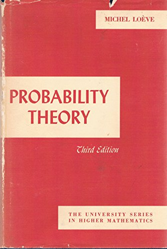 9780442048532: Probability Theory (The University Series in Higher Mathematics)