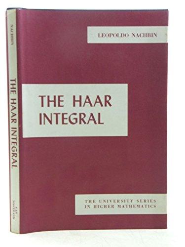 9780442059101: The Haar Integral