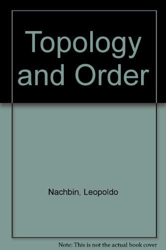 9780442059118: Topology and Order