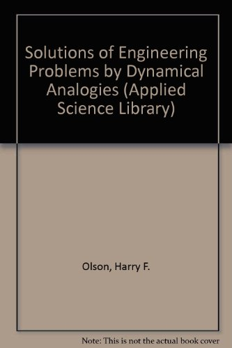 9780442062903: Solutions of Engineering Problems by Dynamical Analogies (Applied Science Library)