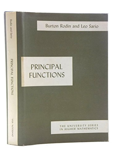 9780442069988: Principal Functions (The University Series in Higher Mathematics)