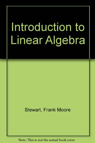 9780442079895: Introduction to Linear Algebra