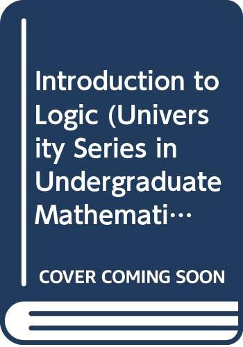 9780442080723: Introduction to Logic