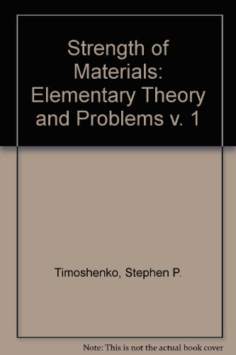9780442085414: Strength of Materials, Vol. 1: Elementary Theory and Problems, 3rd Edition