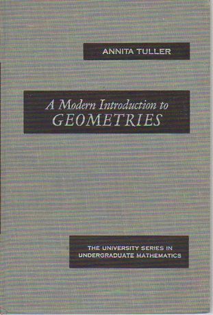 A Modern Introduction to Geometries: annita tuller