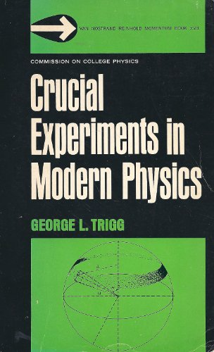 9780442087227: Crucial Experiments in Modern Physics (Momentum Books)