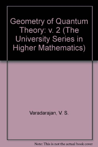 9780442090081: Geometry of Quantum Theory: v. 2 (The University Series in Higher Mathematics)
