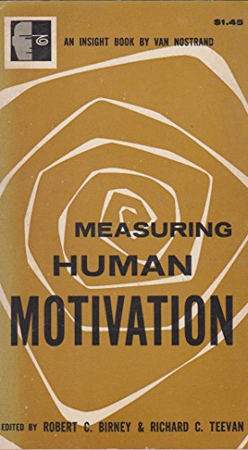 Measuring Human Motivation (Insight Books): Birney, Robert C.,