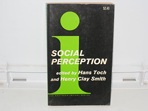 9780442098926: Social Perception (Insight Series on Psychology)