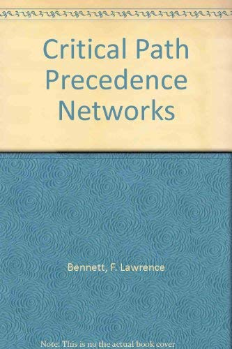 9780442121907: Critical Path Precedence Networks