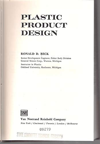 9780442206321: Plastic Product Design