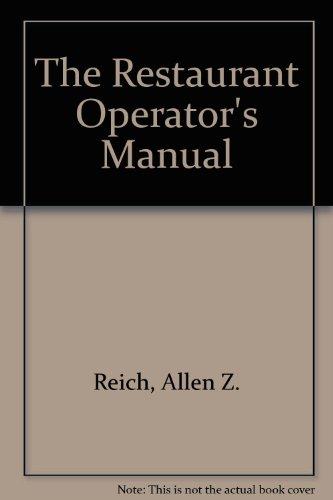 9780442206383: The Restaurant Operator's Manual