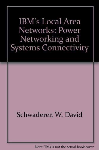 9780442207137: IBM's Local Area Networks: Power Networking and Systems Connectivity