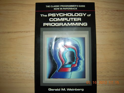 9780442207649: The Psychology of Computer Programming