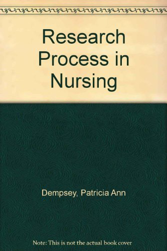 9780442208844: Research Process in Nursing