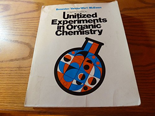 9780442210519: Unitized Experiments in Organic Chemistry