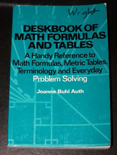 Deskbook of Math Formulas and Tables: A Handy Reference to Math Formulas, Metric Tables, ...
