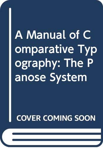 9780442211875: A Manual of Comparative Typography: The Panose System