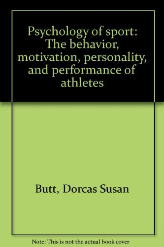 9780442212278: Psychology of sport: The behavior, motivation, personality, and performance of athletes