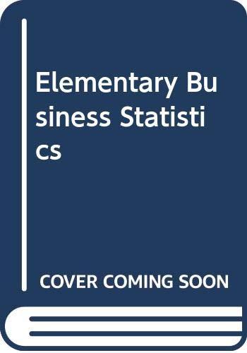 9780442214081: Elementary Business Statistics
