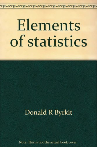 9780442214142: Elements of statistics: An introduction to probability and statistical inference