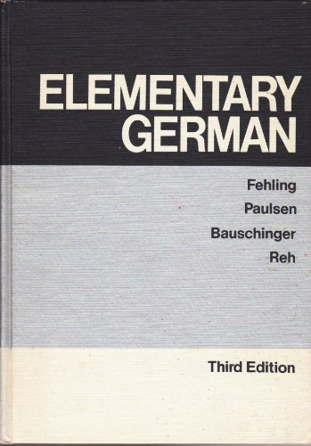 9780442215439: Elementary German (Third Edition)