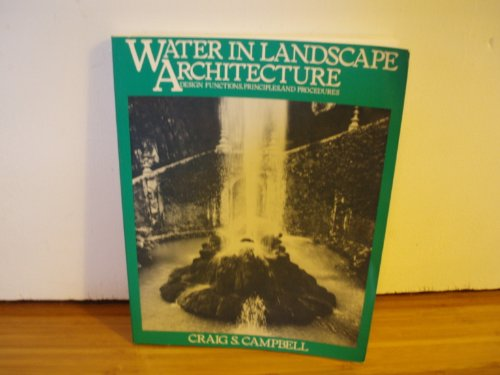 9780442215897: Water in Landscape Architecture