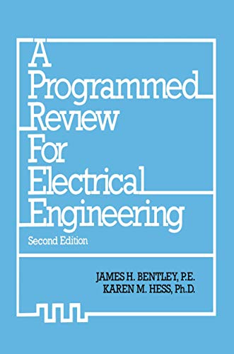 9780442216283: A Programmed Review for Electrical Engineering
