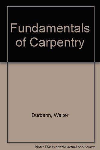 9780442219000: Fundamentals of Carpentry