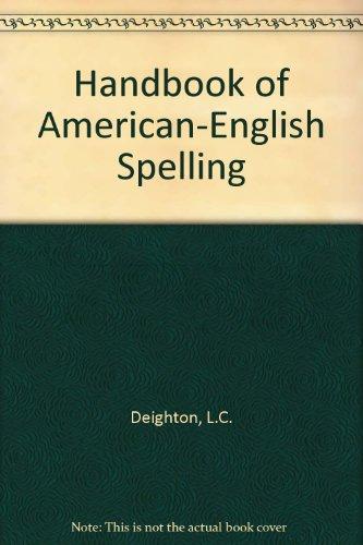 9780442220754: Handbook of American-English Spelling