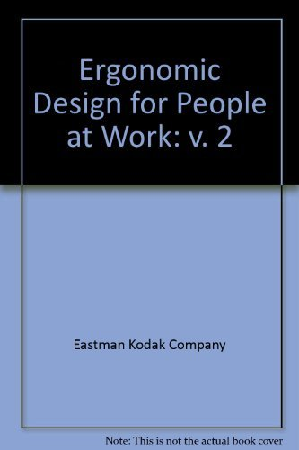 9780442221034: Ergonomic Design for People at Work Vol 2