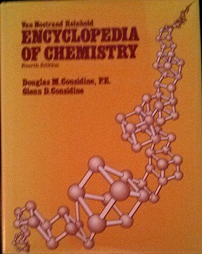 9780442225728: Van Nostrand Reinhold Encyclopedia of Chemistry (Fourth Edition)