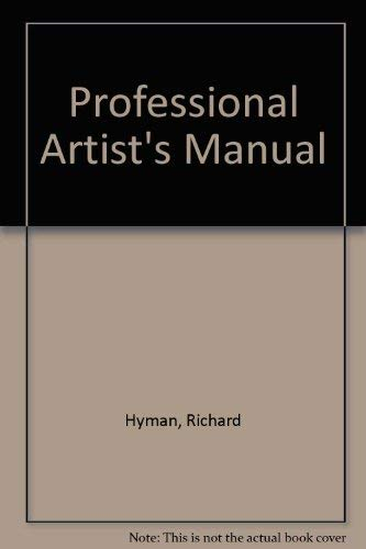 9780442226039: Professional Artist's Manual