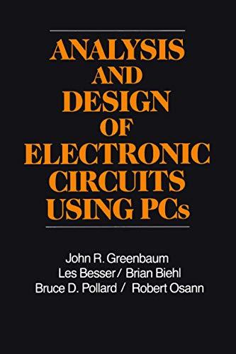 electronic circuit analysis design used abebooksanalysis and design of electronic circuits using john greenbaum