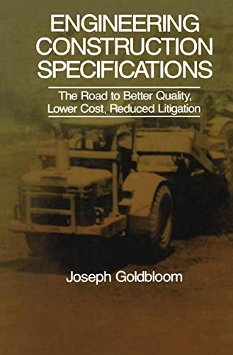 9780442229948: Engineering Construction Specifications: The Road to Better Quality, Lower Cost, Reduced Litigation (VNR Structural Engineering S)
