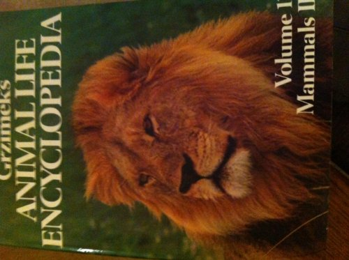 9780442230470: Animal Life Encyclopaedia: Mammals v.12