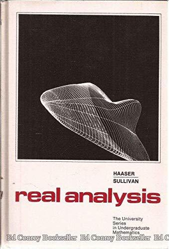 9780442231781: Real Analysis
