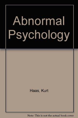 Abnormal Psychology: Kurt Haas