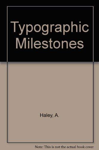 9780442236427: Typographic Milestones