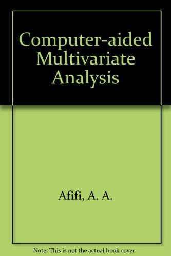 9780442239442: Computer-Aided Multivariate Analysis